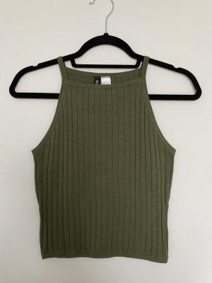 H&M Divided Top basic grigio-verde-cachi