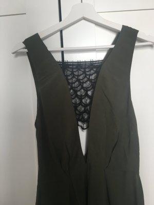 Khaki und schwarzes Sandro Kleid