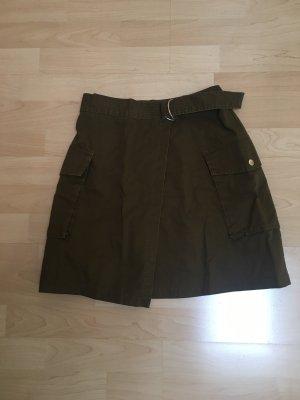 H&M Wraparound Skirt khaki