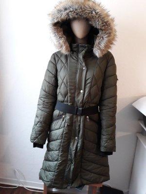 Amisu Cappotto invernale verde scuro-cachi