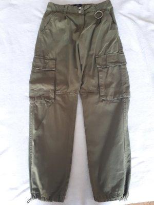 Bershka Cargo Pants khaki