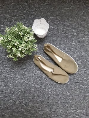 H&M Espadrille Sandals green grey-khaki