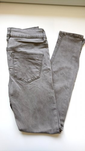 Asos Denim Pantalon cigarette gris vert-kaki