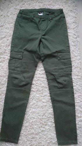 Pieces Spodnie khaki khaki