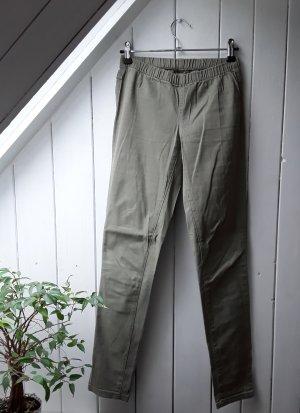 Pieces Pantalón de tubo gris verdoso-caqui