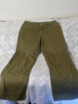 Khakifarbene ONLY Wide Ankle Jeans Grösse 38