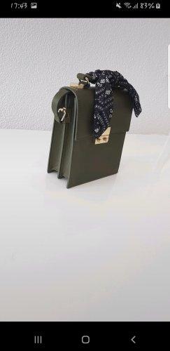 khakifarbene Umhängetasche mit Schleife