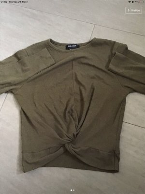 Khakifarbenes Langarmshirt