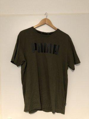 Khakifarbenes T-Shirt von Puma