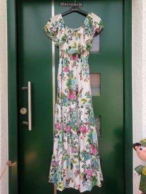 Khala Ibiza Maxikleid Blumenmuster Hippie Boho Miss June Gr. S (36) NEU