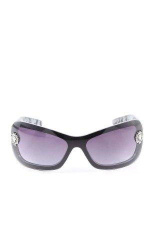 khan Lunettes de soleil angulaires noir-violet style décontracté