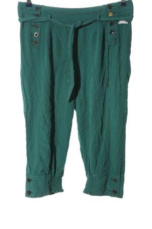 Khujo Pantalone a 3/4 turchese stile casual