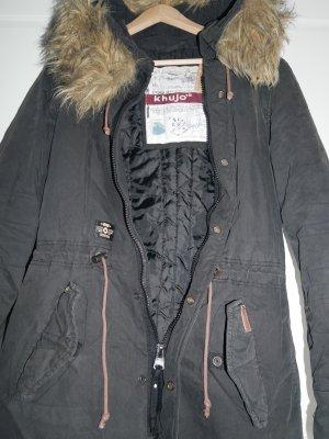 Kuhjo Kurtka zimowa czarny-ciemnoniebieski