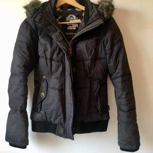 Khujo Damen Winterjacke Gr. 36 S grau sehr Warm