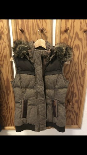 Khujo Quilted Gilet brown