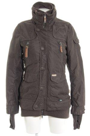 Khujo Podwójna kurtka ciemnozielony W stylu casual