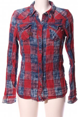 Khujo Flannel Shirt red-blue check pattern casual look