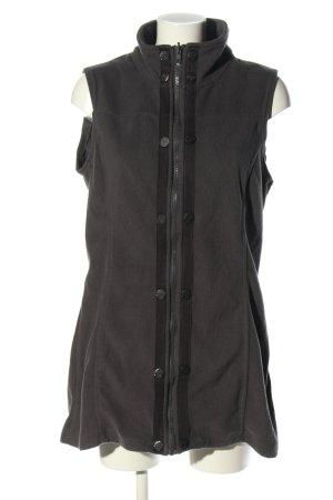 Khujo Fleece vest zwart casual uitstraling
