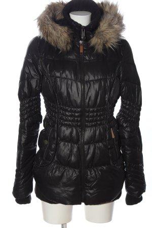 khujo genuine Hoody black quilting pattern casual look