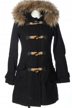khujo genuine Hooded Coat black-natural white casual look