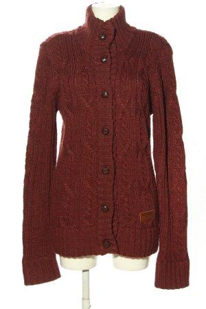 Khujo Cardigan a maglia grossa rosso stile casual