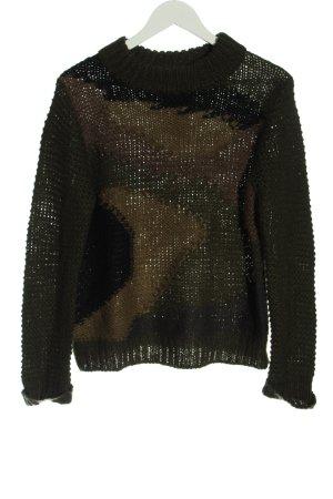 Khujo Pull en crochet imprimé allover style décontracté