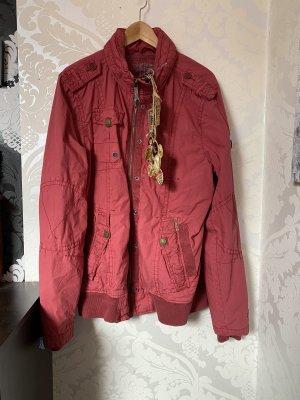 Khujo Herbstjacke Jacke mit Kapuze weinrot Gr XL Neu mit Etikett