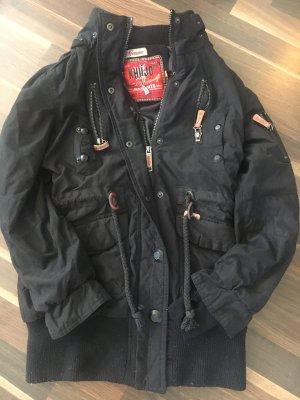 Khujo Cappotto corto nero-marrone chiaro