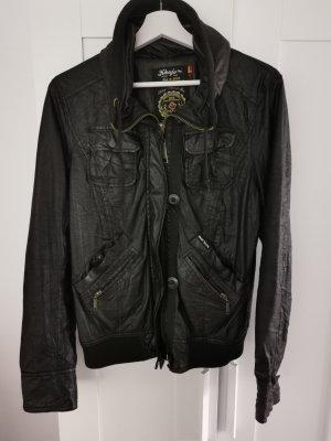 khujo Jacke mit Kaputze in schwarz, Gr. L