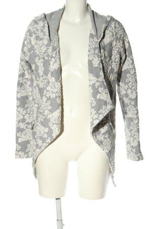 Khujo Kurtka z kapturem jasnoszary-biały Na całej powierzchni W stylu casual