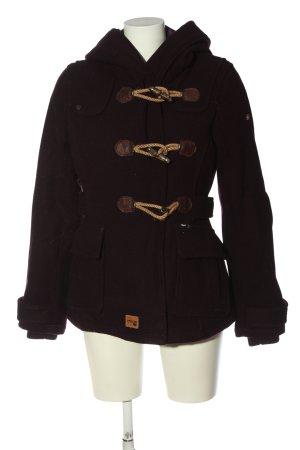 Khujo Veste à capuche brun style décontracté