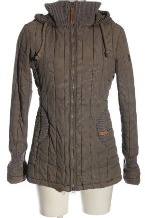Khujo Giacca con cappuccio marrone-crema stile casual