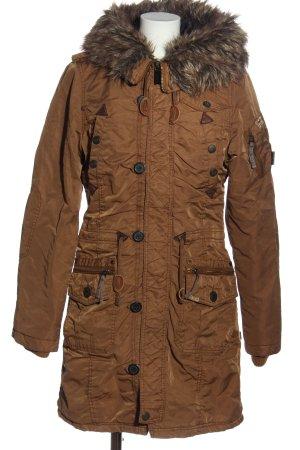 Khujo Chaqueta con capucha marrón look casual
