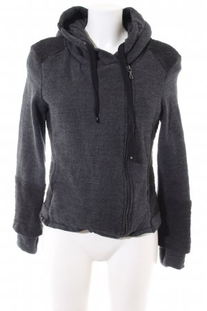 Khujo Hoody light grey flecked casual look