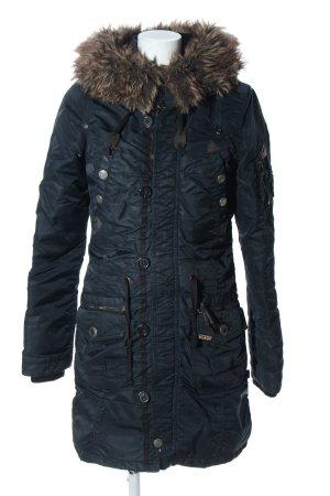 Khujo Manteau à capuche bleu style décontracté
