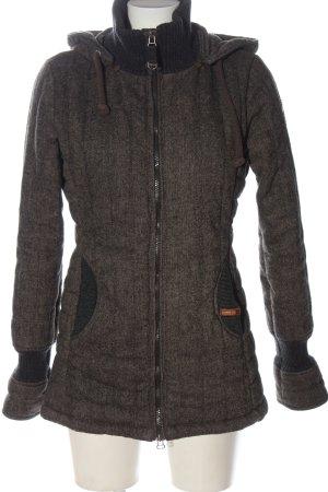 Khujo Abrigo con capucha marrón look casual