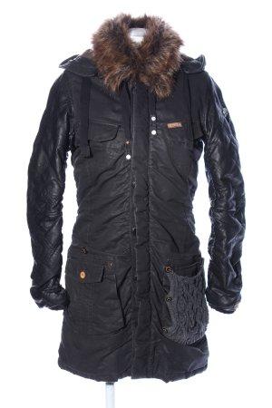 Khujo Abrigo con capucha gris antracita estampado acolchado look casual