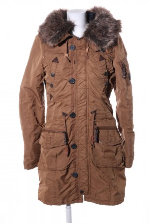 Khujo Manteau à capuche bronze style décontracté