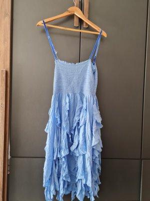 Khujo High Low Dress blue-neon blue