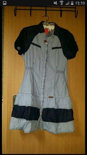 Khujo Kleid Blusenkleid hellblau