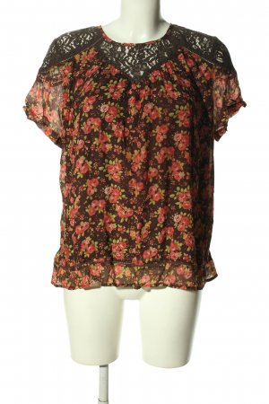 Khujo Kurzarm-Bluse Allover-Druck Casual-Look