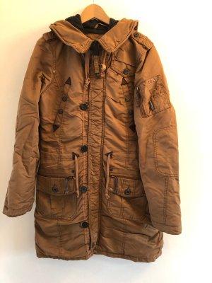 Khujo Abrigo de invierno coñac-marrón