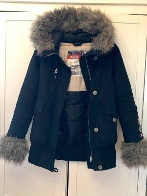 Khujo Manteau à capuche noir