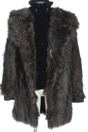 Khujo Futrzany płaszcz czarny-w kolorze białej wełny W stylu casual