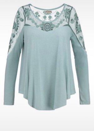 Khujo Pullover Shirt Langarm mit Spitze Gr M