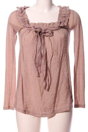 Khujo Bluzka z falbankami różowy W stylu casual