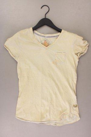 Khujo T-shirt col en V jaune-jaune fluo-jaune citron vert-jaune foncé