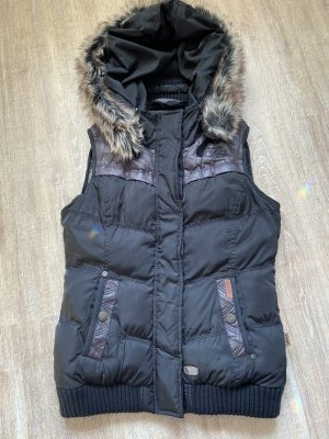 Khujo Quilted Gilet black-brown