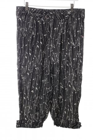 Khujo Jersey Pants black-white abstract pattern casual look