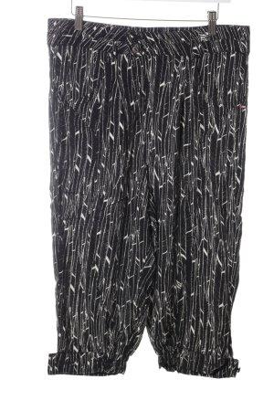 Khujo Stoffhose schwarz-weiß abstraktes Muster Casual-Look